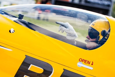 Nigel Lamb of Great Britain prepares for his flight during the finals at the fifth stage of the Red Bull Air Race World Championship in Ascot, Great Britain on August 14, 2016. // Samo Vidic/Red Bull Content Pool // For more content, pictures and videos like this please go to www.redbullcontentpool.com.